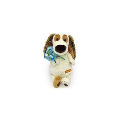 Мягкая игрушка Budi Basa Собака Бартоломей с букетом, 27см