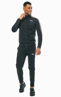 Черный спортивный костюм с декоративным принтом Puma