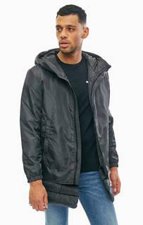 Черная куртка с капюшоном Diesel