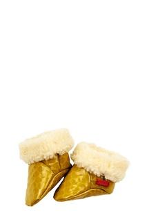 Желтые пинетки с отделкой #Mumofsix