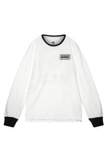Белый с черным лонгслив adidas x Neighborhood