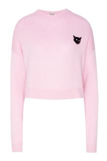 Розовый джемпер с аппликацией Miu Miu