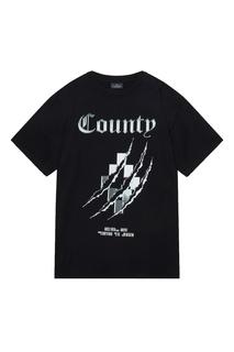 Черная хлопковая футболка с принтом Marcelo Burlon County Of Milan