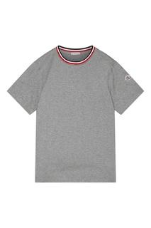 Серая футболка Maglia Moncler