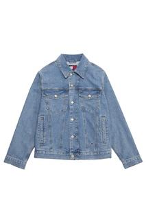 Джинсовая куртка с логотипом на спине Tommy Jeans