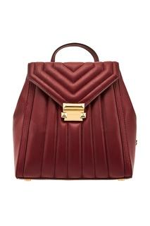 Бордовый рюкзак Whitney Michael Michael Kors