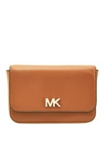 Коричневая сумка на пояс Mott Michael Michael Kors