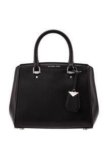 Черная кожаная сумка Benning Michael Michael Kors