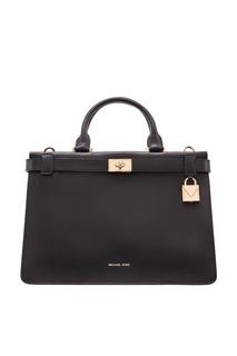 Черная сумка Tatiana из кожи Michael Michael Kors