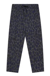 Хлопковые брюки с принтом Kenzo