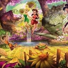 Фотообои Disney Fairies Forest (3,68х1,27 м)