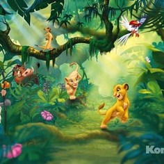 Фотообои Disney Lion King Jungle (3,68х2,54 м)