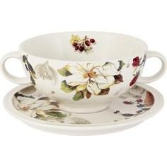 Суповая чашка на блюдце Imari Магнолия (IMB0304-A2119AL)