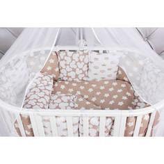 Комплект в кроватку GulSara 7 пр. с подушками Зеленый 31