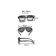 Cолнцезащитные очки Real Kids детские Авиатор черные (4SKYBLK)
