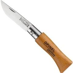Нож складной Opinel №2 VRN Carbon Tradition (карбоновая сталь, рукоять бук, длина клинка 3,5 см)