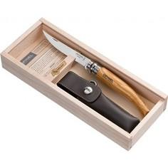 Нож складной Opinel филейный №10 VRI Folding Slim Olivewood в деревянном кейсе
