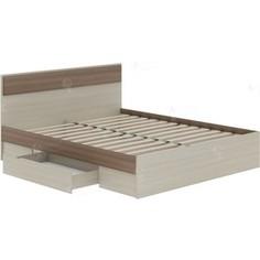 Кровать Атлант Некст 73 с ящиком ясень шимо темный, ясень шимо светлый
