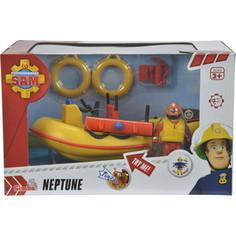 Игровой набор Simba Пожарный Сэм, Лодка спасателей с акс. + фигурка, 20см