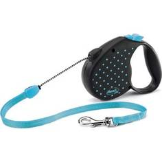 Рулетка Flexi Color М трос 5 м голубая для собак до 20кг