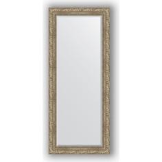 Зеркало с фацетом в багетной раме поворотное Evoform Exclusive 65x155 см, виньетка античное серебро 85 мм (BY 3565)