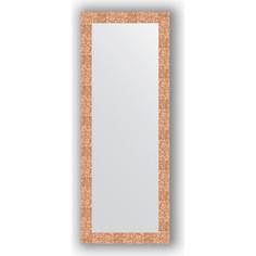 Зеркало в багетной раме поворотное Evoform Definite 56x146 см, соты медь 70 мм (BY 3114)