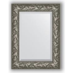 Зеркало с фацетом в багетной раме поворотное Evoform Exclusive 59x79 см, византия серебро 99 мм (BY 3390)