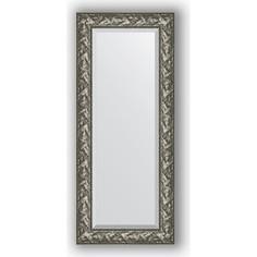 Зеркало с фацетом в багетной раме поворотное Evoform Exclusive 59x139 см, византия серебро 99 мм (BY 3520)