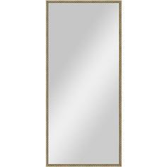 Зеркало в багетной раме поворотное Evoform Definite 68x148 см, витая латунь 26 мм (BY 0771)