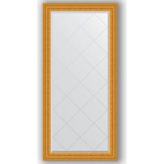 Зеркало с гравировкой поворотное Evoform Exclusive-G 75x157 см, в багетной раме - сусальное золото 80 мм (BY 4267)