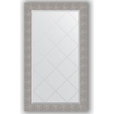 Зеркало с гравировкой поворотное Evoform Exclusive-G 76x131 см, в багетной раме - чеканка серебряная 90 мм (BY 4238)