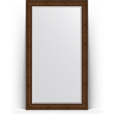 Зеркало напольное с фацетом поворотное Evoform Exclusive Floor 117x207 см, в багетной раме - состаренная бронза с орнаментом 120 мм (BY 6179)