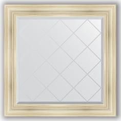 Зеркало с гравировкой Evoform Exclusive-G 89x89 см, в багетной раме - травленое серебро 99 мм (BY 4332)