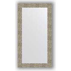 Зеркало в багетной раме поворотное Evoform Definite 56x106 см, соты титан 70 мм (BY 3084)