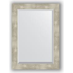 Зеркало с фацетом в багетной раме поворотное Evoform Exclusive 51x71 см, алюминий 61 мм (BY 1129)