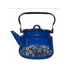 Чайник эмалированный 3.5 л СтальЭмаль Вологодский сувенир (1с26я)