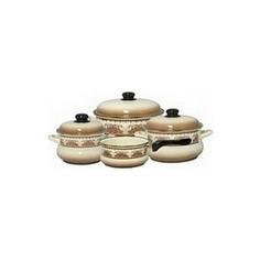 Набор эмалированной посуды 7 предметов Metrot Терракот (083183)