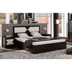 Кровать ЭРА Николь 160x200 венге, лиственница светлая ERA