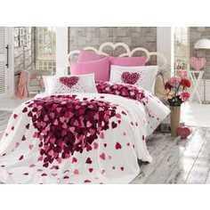 Набор для спальни Hobby home collection Juana покрывало +КПБ Евро поплин лиловый (1501001069)