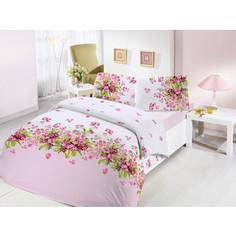 Комплект постельного белья Altinbasak Евро, ранфорс, Sumbul розовый (297/36/CHAR001)