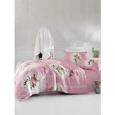 Комплект постельного белья Altinbasak Евро, ранфорс, Ulya розовый (297/37/CHAR001)