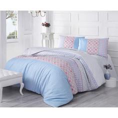 Комплект постельного белья Altinbasak Евро, ранфорс, Espinela голубой (297/43/CHAR001)