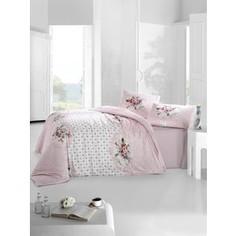 Комплект постельного белья Altinbasak Евро, ранфорс, Mira розовый (297/26/CHAR003)