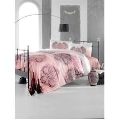 Комплект постельного белья Altinbasak Евро, ранфорс, Leyan фуксия (297/24/CHAR002)