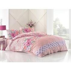 Комплект постельного белья Altinbasak Евро, ранфорс, Asel розовый (297/6/CHAR002)