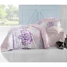 Комплект постельного белья Altinbasak 2-х сп, сатин, Ilma розовый (256/25/CHAR002)