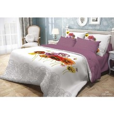Комплект постельного белья Волшебная ночь Евро, ранфорс, Fialki с наволочками 50x70 (701933)