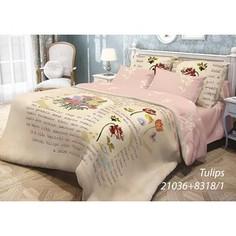 Комплект постельного белья Волшебная ночь Евро, ранфорс, Tulips с наволочками 70x70 (702145)