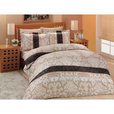 Комплект постельного белья Altinbasak 2-х сп, сатин, Classico коричневый (255/2/5 /CHAR002)
