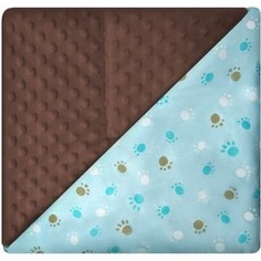 Одеяло-плед Осьминожка двусторонний 100*100 Капучино (бязь-сатин вельбоа наполнитхолкон)